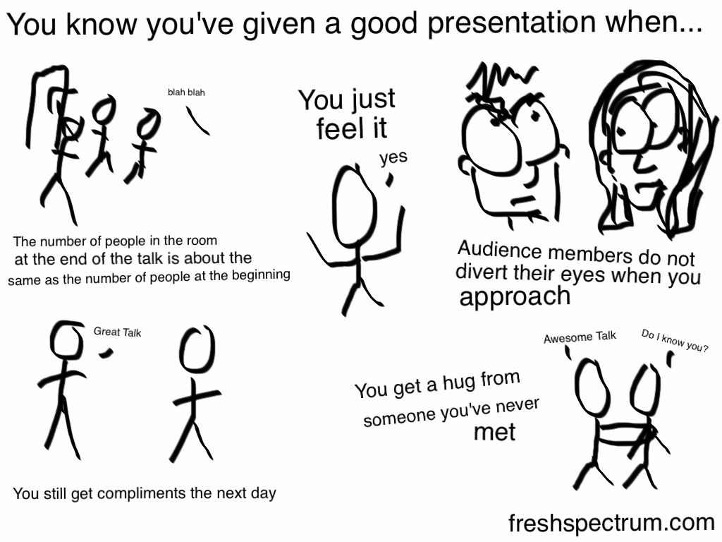 You know you've given a good presentation when… #eval11