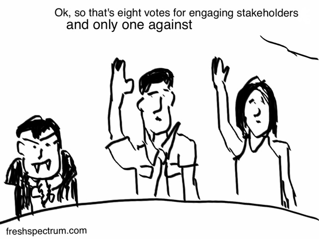 Toon: Engaging stakeholders