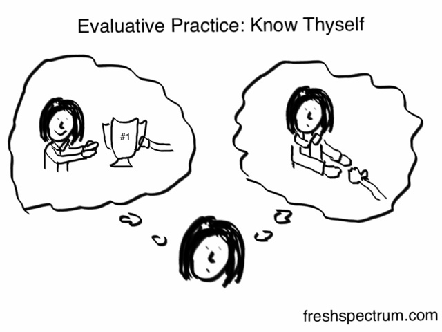 Toon: Evaluative practice, know thyself