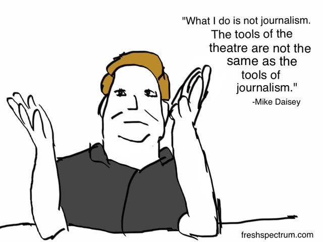Mike Daisey and the justifications of a liar