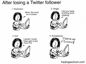 Stages you go through after losing a Twitter follower