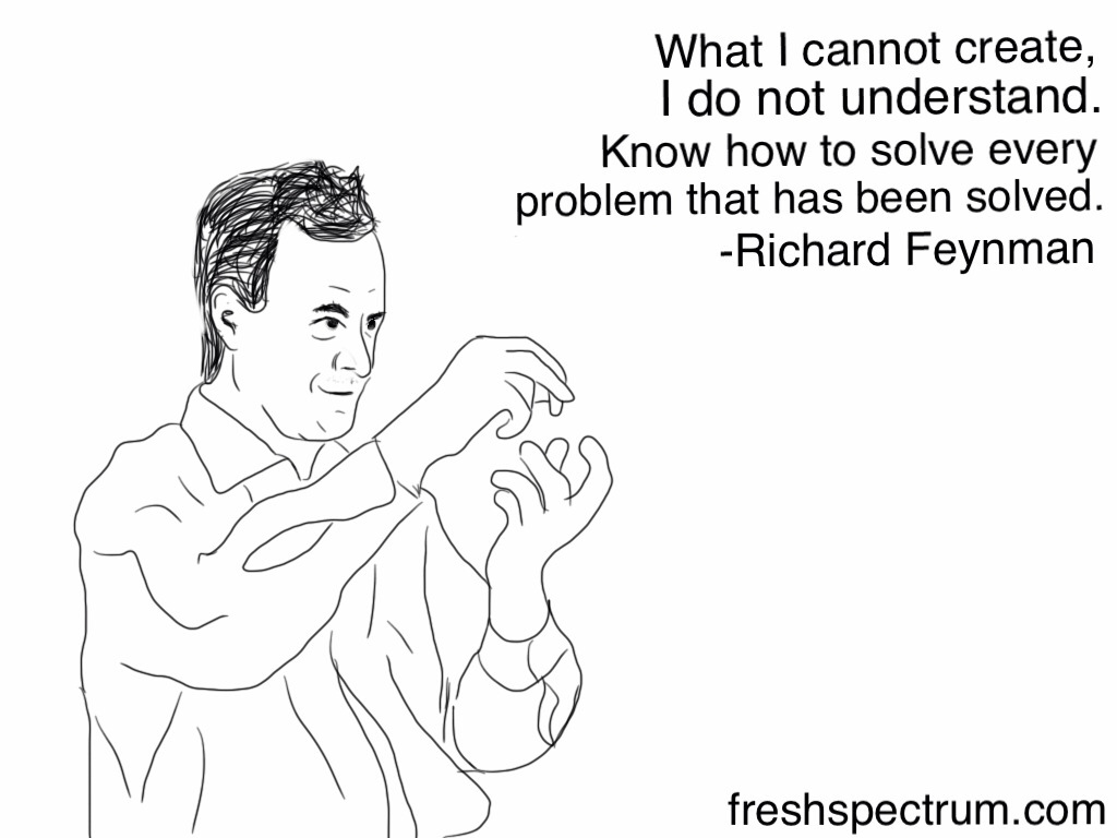 Feynman: What I cannot create, I do not understand