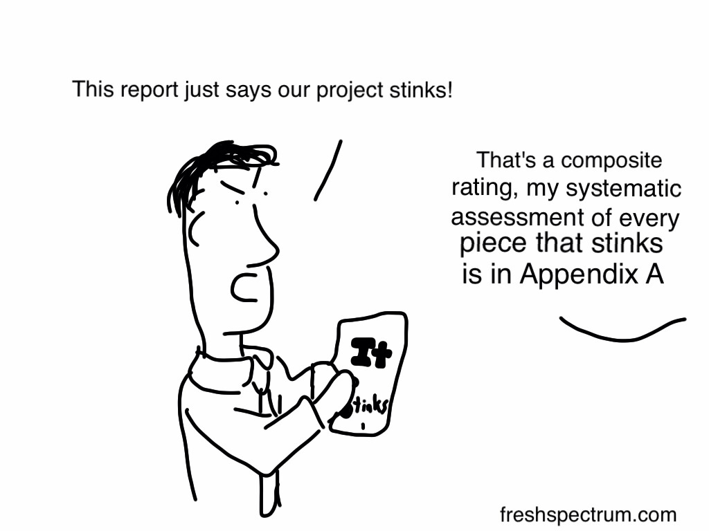 Project Stinks Report Cartoon by Chris Lysy