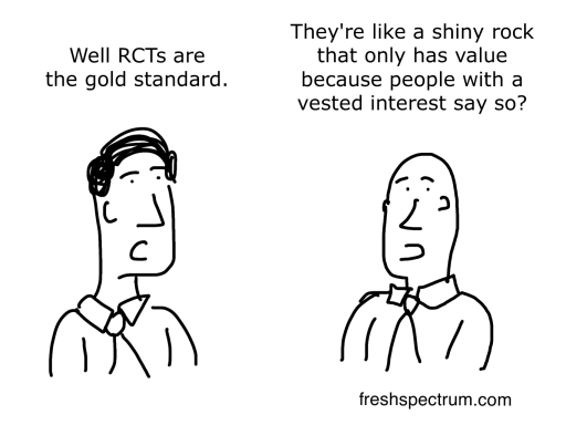 RCT is the Gold Standard Cartoon by Chris Lysy
