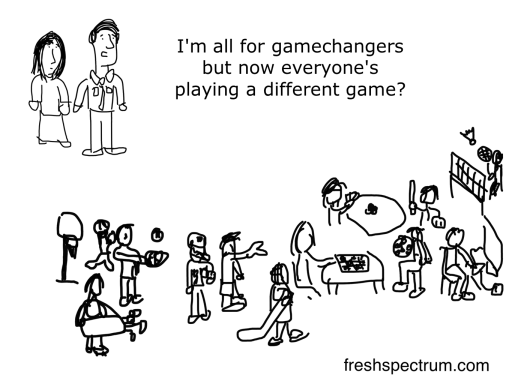 Gamechanger Cartoon by Chris Lysy