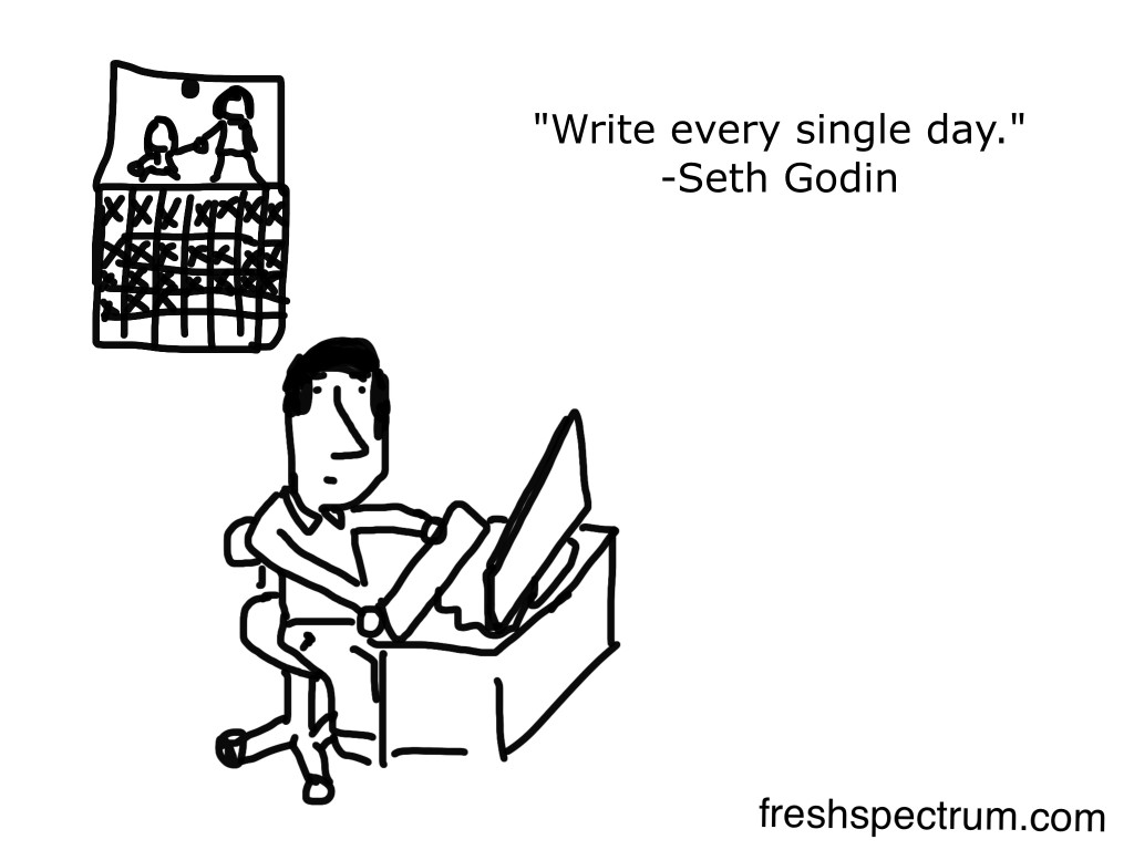Write every single day