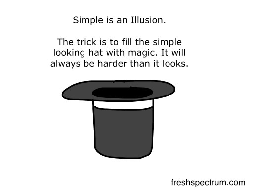 Simple is an illusion
