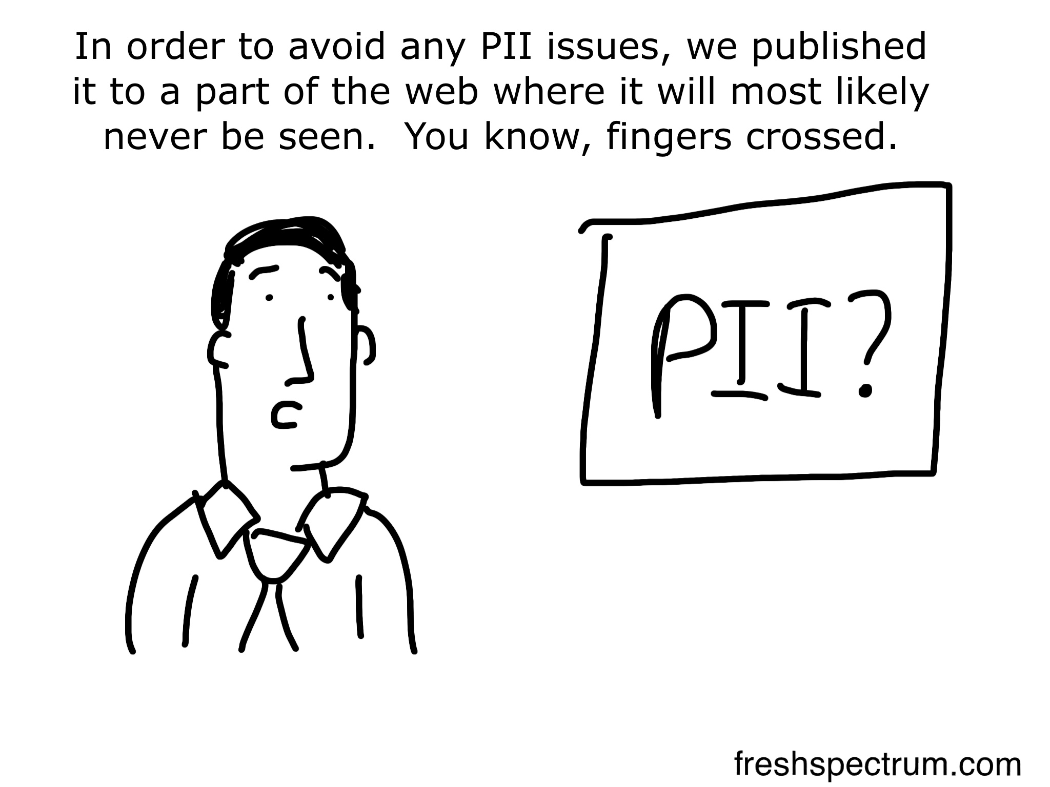 PII cartoon by Chris Lysy