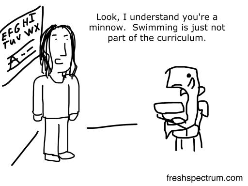 Minnow Curriculum cartoon by Chris Lysy