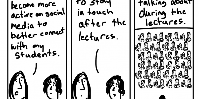 After the lecture cartoon by Chris Lysy