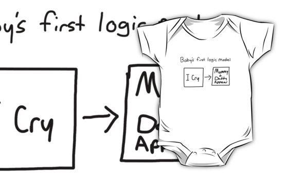 Baby's first logic model onesie