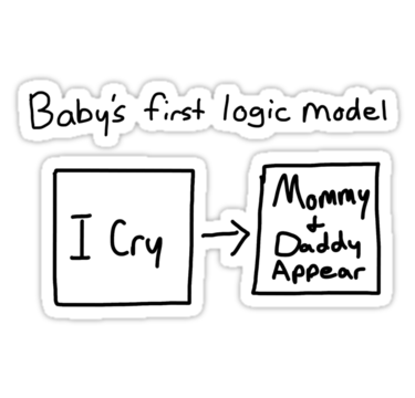 Baby's first logic model sticker