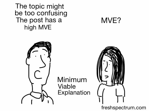 Minimum Viable Explanation – cartoon flashback