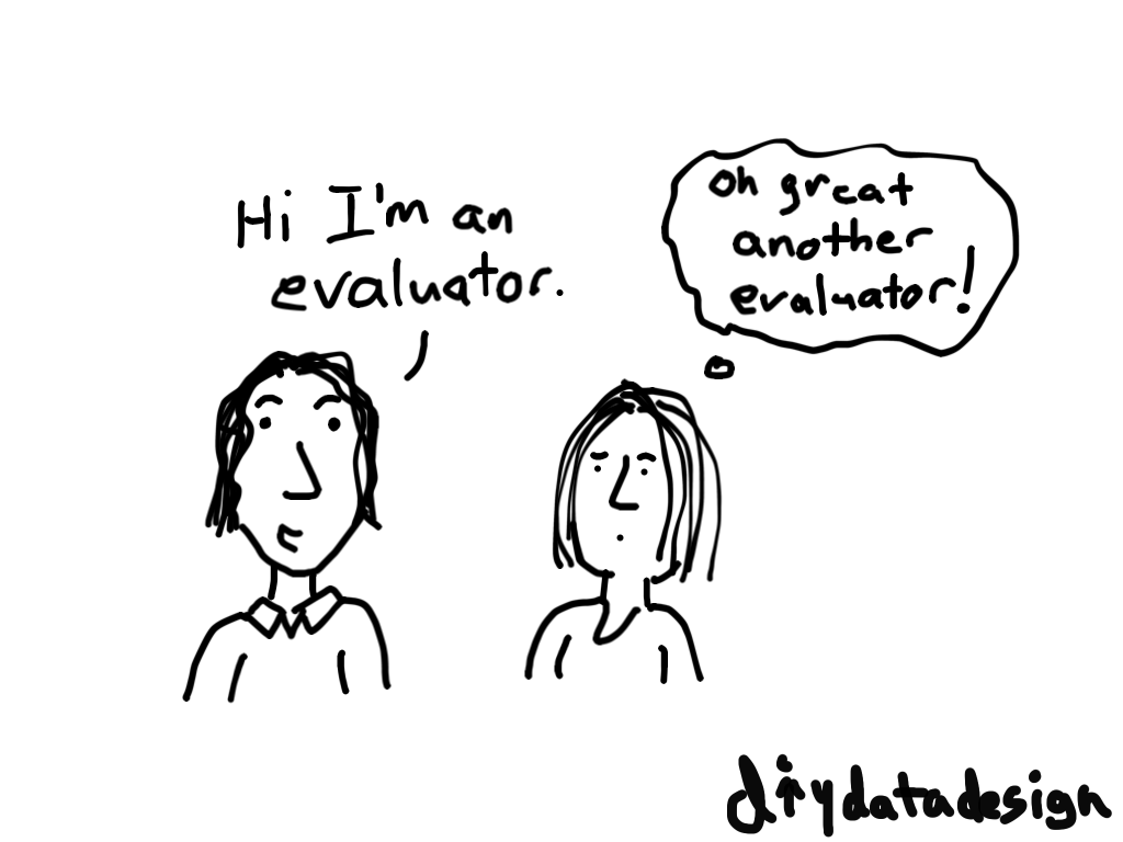 Oh great, another evaluator cartoon by Chris Lysy