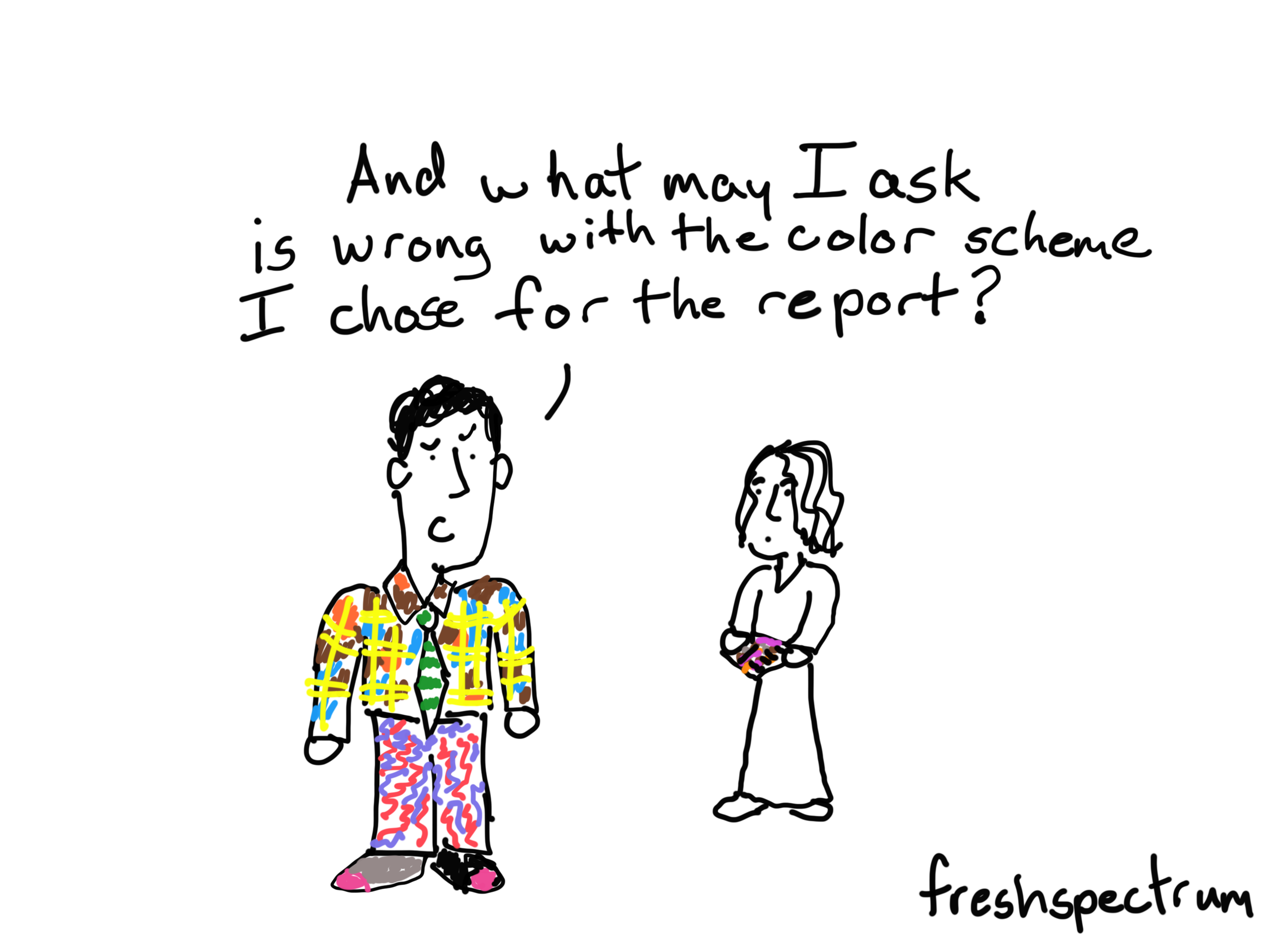 """The """"what is wrong with my report"""" cartoon post."""