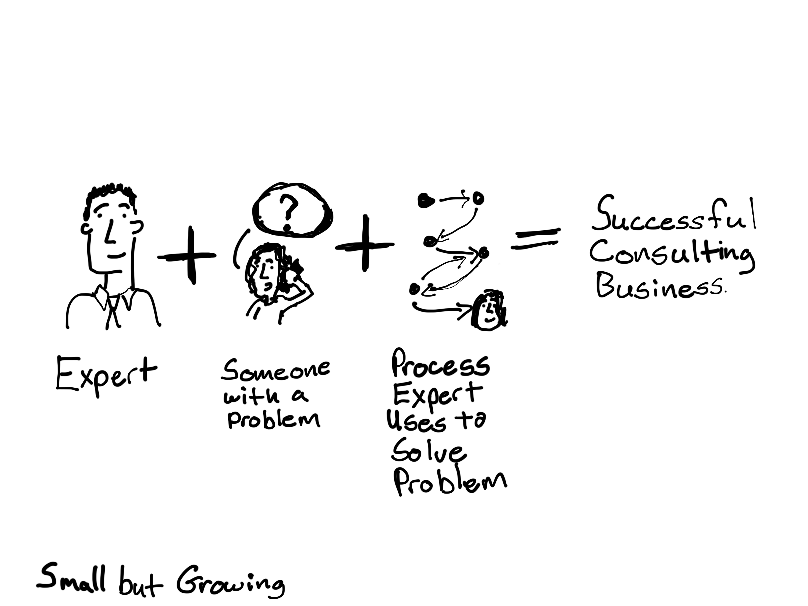 Successful consulting business cartoon by Chris lysy
