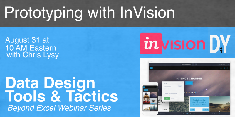 Data Design Webinar Series