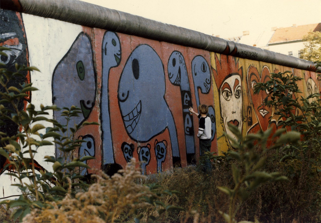 What's the deal with the Berlin Wall in my coworking space?