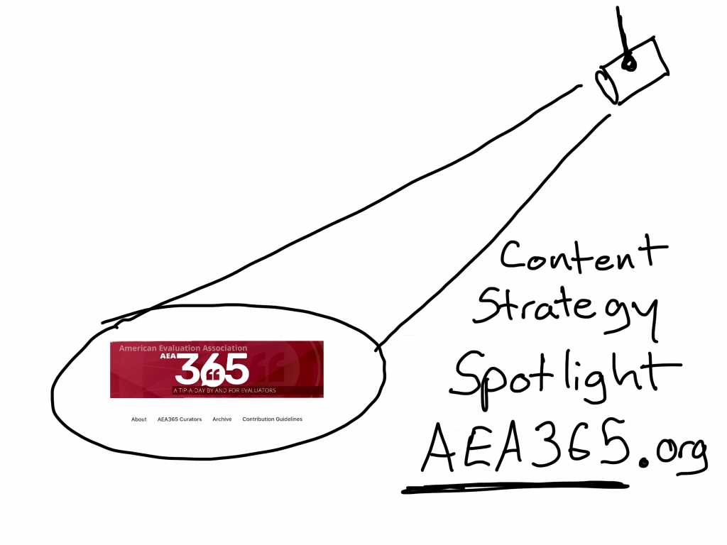 Content Strategy Spotlight AEA365.org