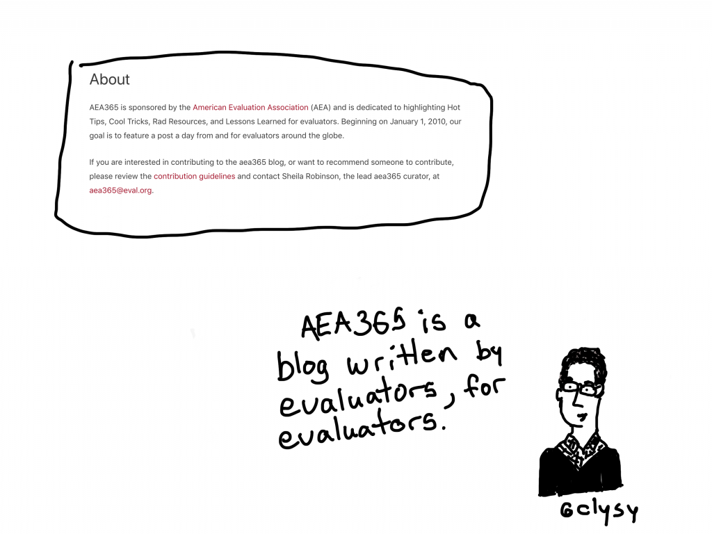 AEA365 is a blog written by evaluators, for evaluators.