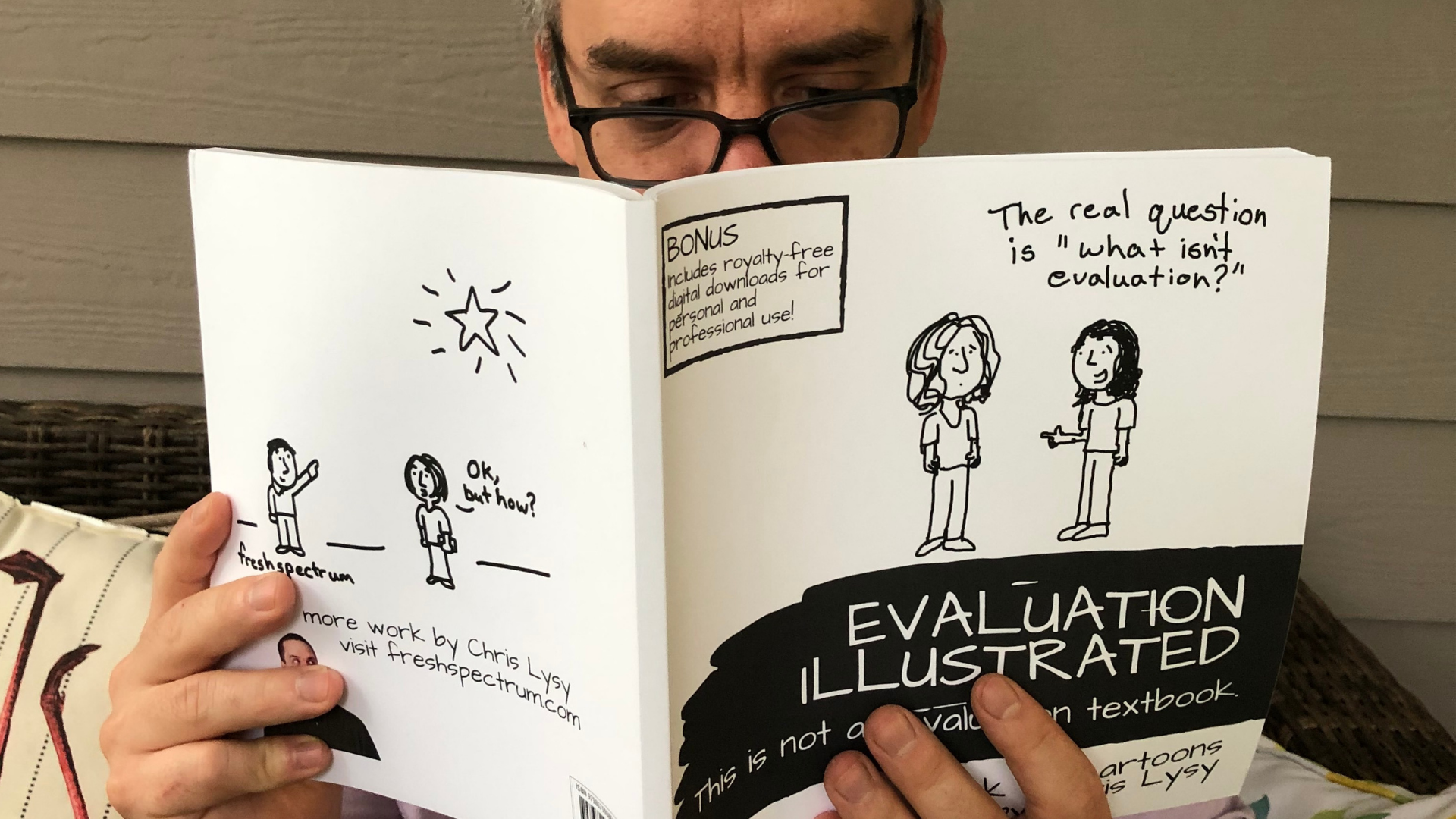 I have a book now! Introducing Evaluation Illustrated