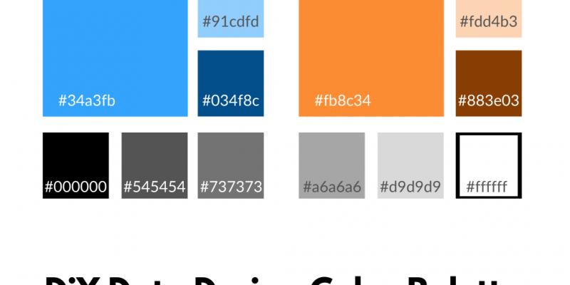 DiY Data Design Color Palette