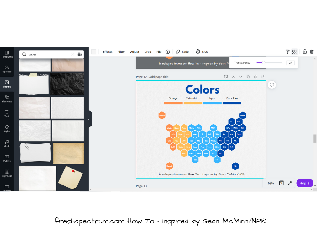How to Create a Hex Tile Grid in Canva