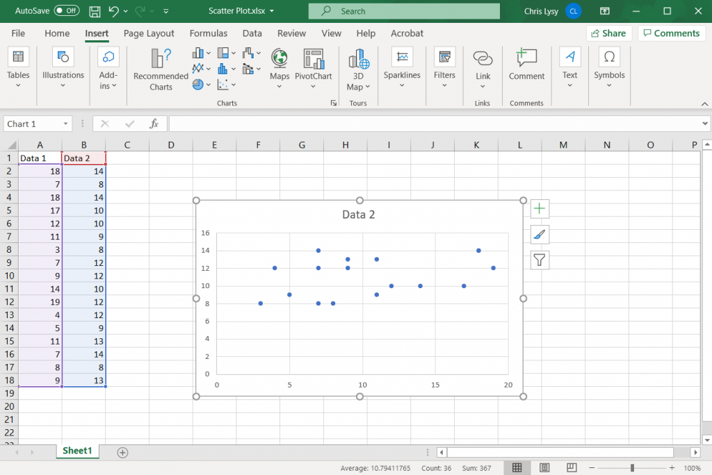 How to Create Scatter Plots in Excel - Simplified How To Step 3 Illustration