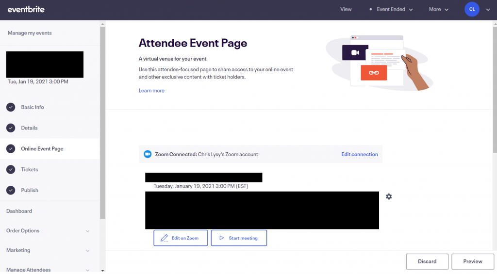 How to Plan and Deliver a Presentation with Zoom (Illustration) Eventbrite Integration