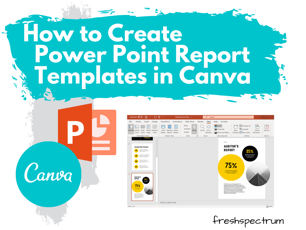 How to Create Power Point Report Templates in Canva - Illustration