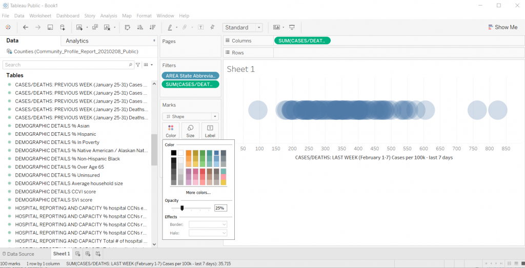 Adding Transparency in Tableau