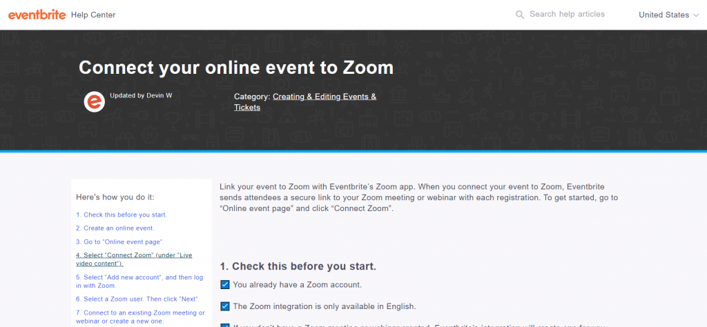 How to Plan and Deliver a Presentation with Zoom (Illustration) Eventbrite Connect your online event to Zoom