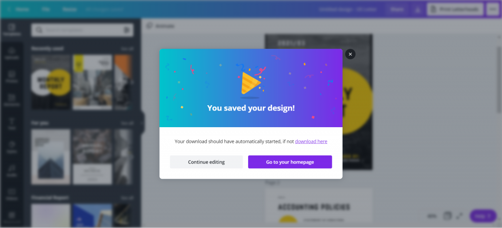 How to Create Power Point Report Templates in Canva Illustration - Design Saved