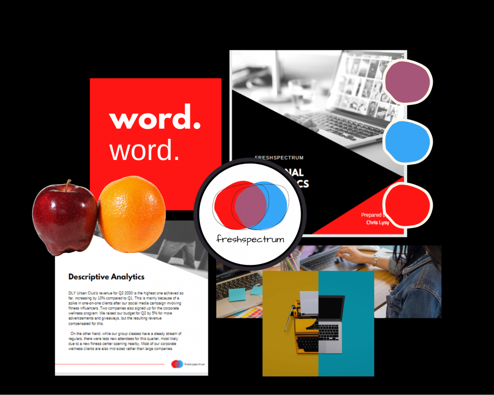 How to create report moodboards in Canva (illustration) moodboarding visual metaphors