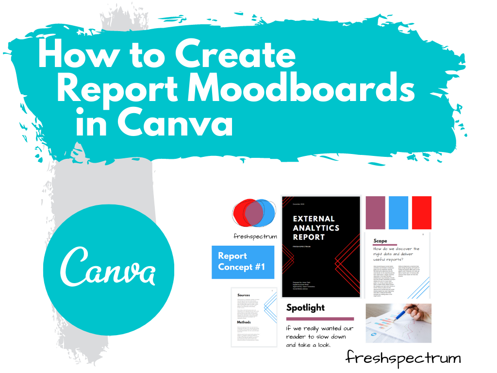 How to create report moodboards in Canva (illustration)